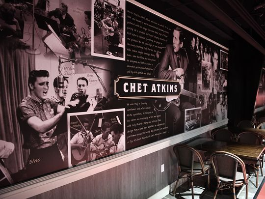 Chet Atkins displayed at Ray Stevens Dinner Theater, a Nashville attractions, night life, date night, and the perfect thing to do in Nashville